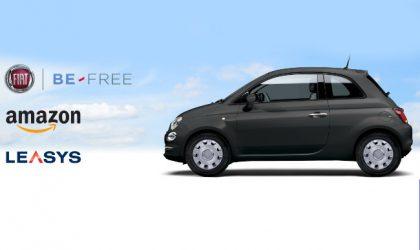 """""""Be-Free"""", noleggiare una Fiat 500 con Leasys e Amazon"""