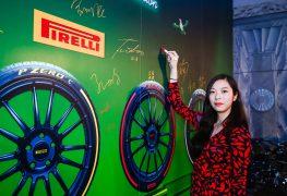 Le gomme colorate di Pirelli fanno colpo in Cina