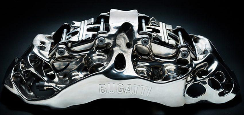 Bugatti sforna la pinza freno in titanio fatta in 3D