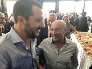 Simonpaolo Buongiardino con il vicepremier Matteo Salvini