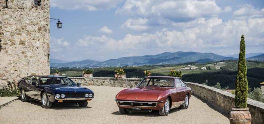 Lamborghini: i 50 anni di Espada e Islero celebrati tra Umbria, Toscana ed Emilia Romagna