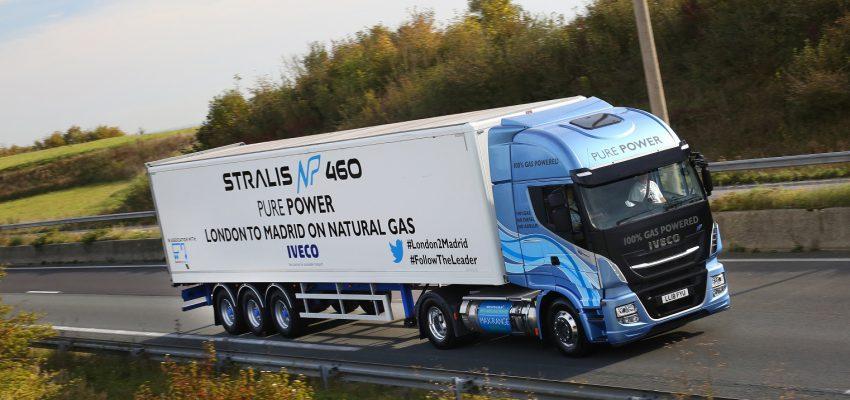 Iveco, è record: 1.728 km di percorrenza con un solo pieno di gas naturale