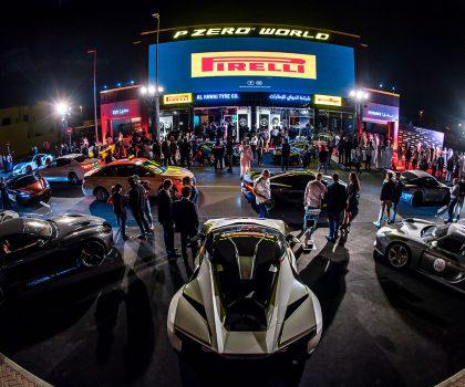 200 supercar in pista inaugurano il P Zero World di Dubai