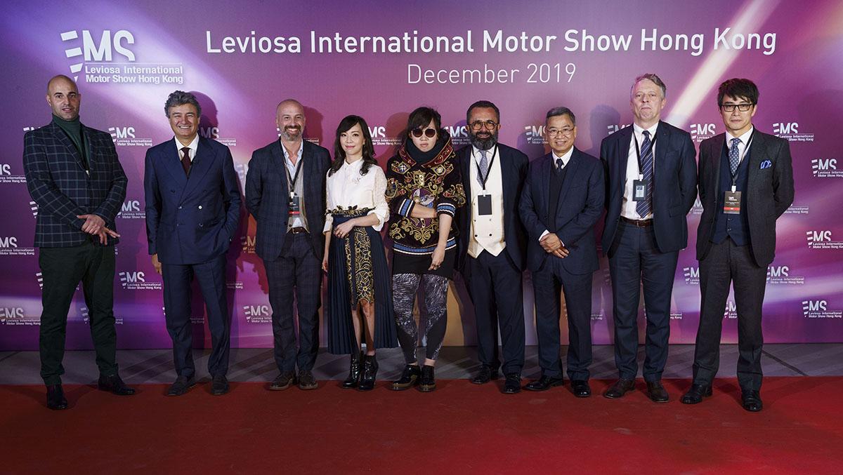 Da sinistra, Carlos Arrojo Turron, Fabrizio Giugiaro, Luca Perotti, Cathlin Cheng, Ash Sauk, Rino Drogo, Ringo Lee (Istituto Motor Industria di