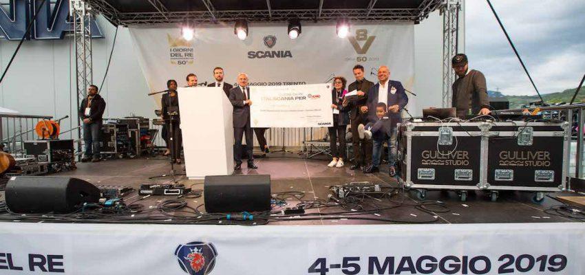 Cuore da Re di Scania: devoluti 15.000 euro ad ADMO Trentino
