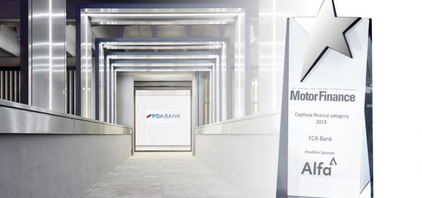 """Fca Bank è la """"Captive Finance Company of the Year"""""""