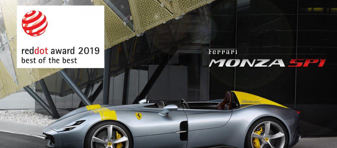 "Ferrari, il ""Red Dot: Best of the Best Award"" alla Monza SP1"