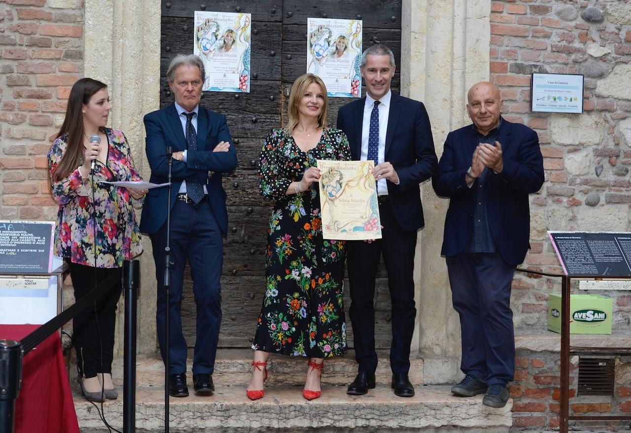 Museo Nicolis, Premio Giulietta, da sin Sara Tabacchiera,Raffaele Tomelleri,Silvia Nicolis, Filippo Rando, Felice Naalin,ph.Pravadelli