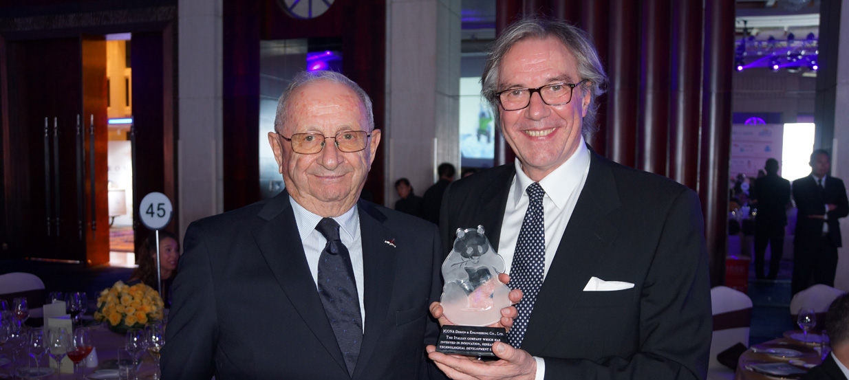Teresio Gigi Gaudio ICONA Chairman e Guido Giacconi Vice Chairman at China Italy Chamber of Commerce