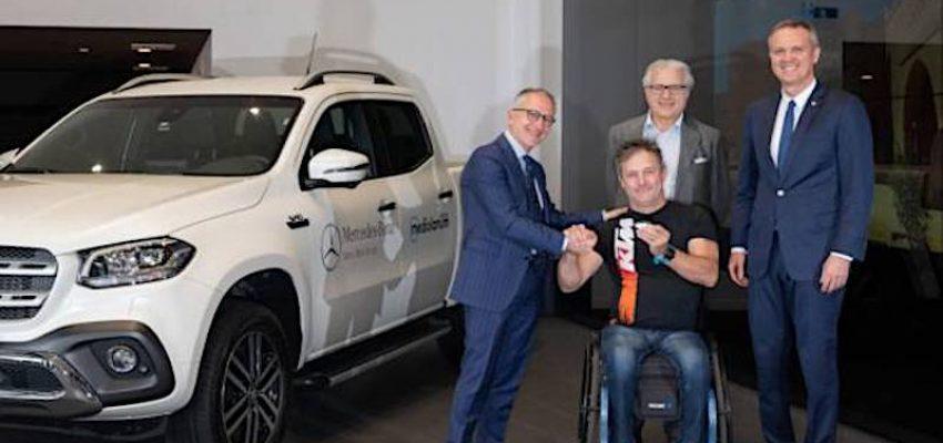 L'enduro (con Nicola Dutto) sceglie il pick-up di Mercedes