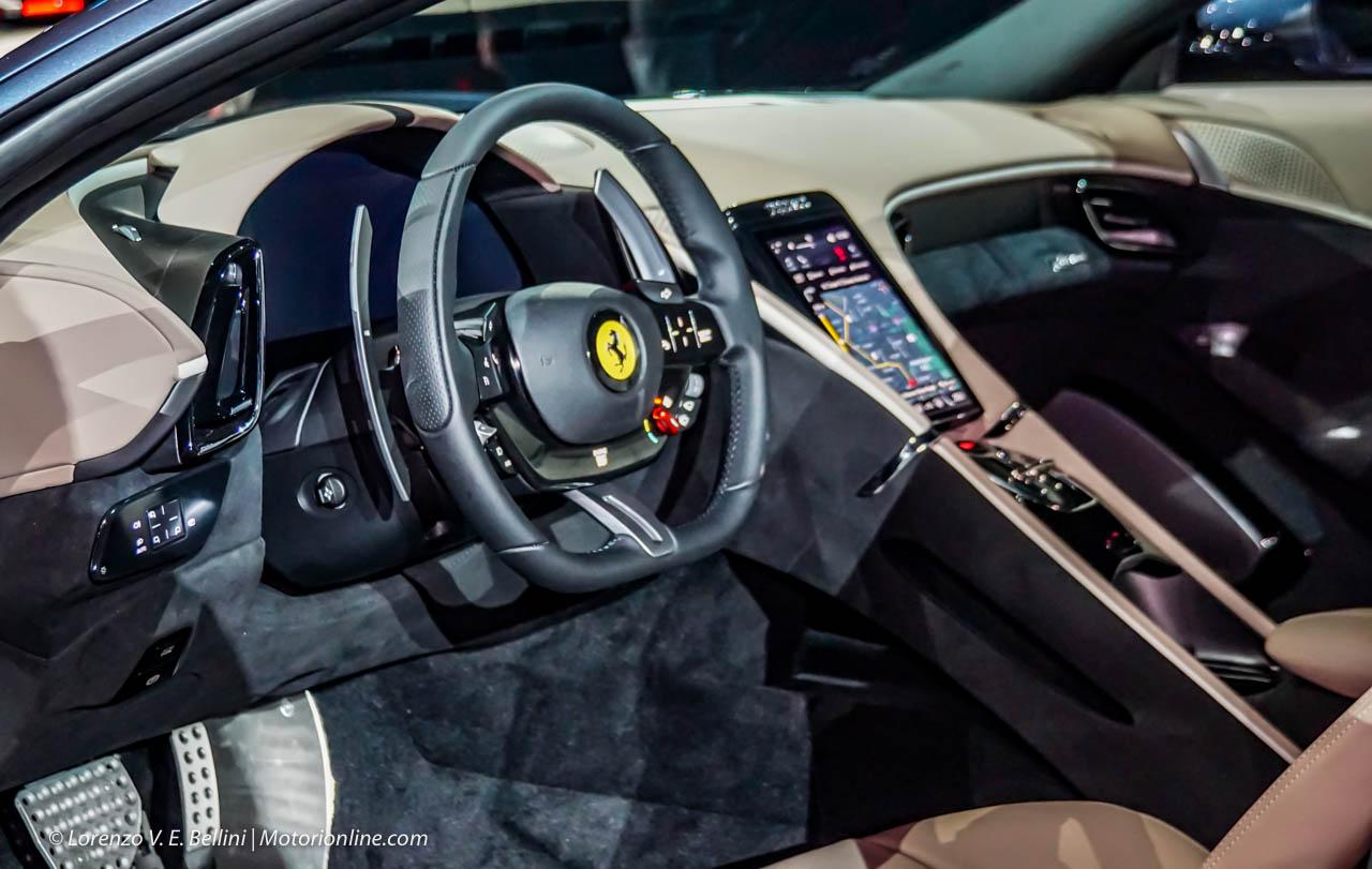 Ferrari roma 2019 presentazione design interni motore foto for Design interni roma