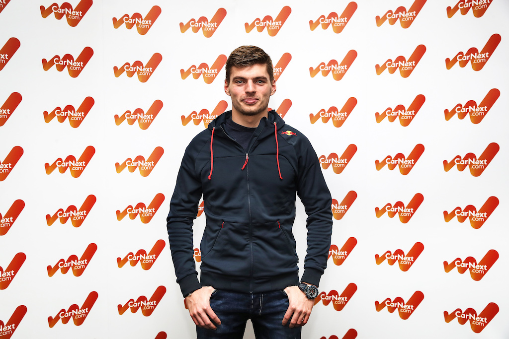 MILTON KEYNES, ENGLAND - NOVEMBER 08: Max Verstappen Appearance For CarNext on November 08, 2019 in Milton Keynes, England. (Photo by Christopher Lee/Getty Images for CarNext)