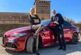 Alfa Romeo Giulia Quadrifoglio, con Elena Giaveri e Davide Franciosa