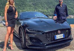 Jaguar F-Type R, con Elena Giaveri e Adriano Gioria