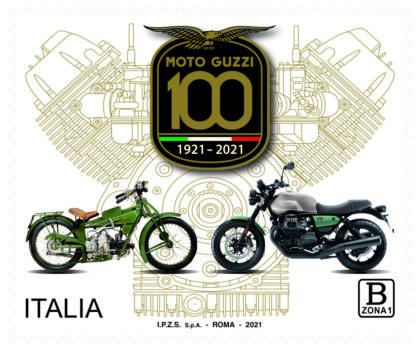 Moto Guzzi: emesso il francobollo celebrativo dei 100 anni